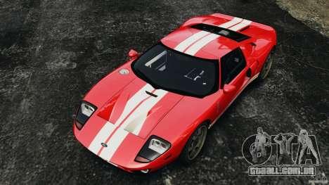 Ford GT 2005 v1.0 para GTA 4 vista superior