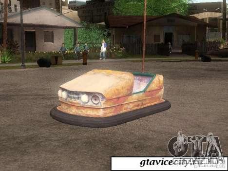 Máquina de Attrakcionnaâ para GTA San Andreas esquerda vista