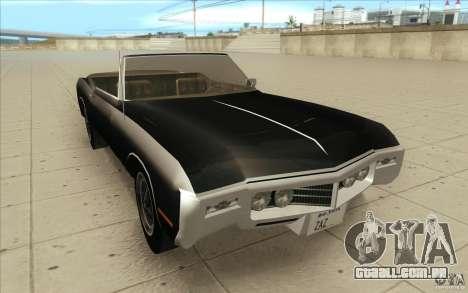 Buick Riviera GS 1969 para GTA San Andreas vista traseira