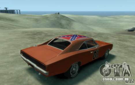 Dodge Charger General Lee v1.1 para GTA 4 vista direita
