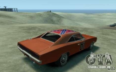 Dodge Charger General Lee v1.1 para GTA 4 vista direita