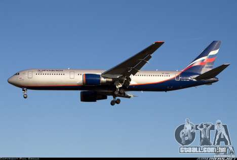 Boeing 767 de telas de carregamento para GTA San Andreas por diante tela