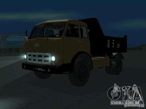 Caminhão de descarga MAZ 503a para GTA San Andreas