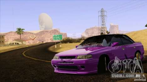 Subaru Legacy Drift Union para GTA San Andreas vista superior