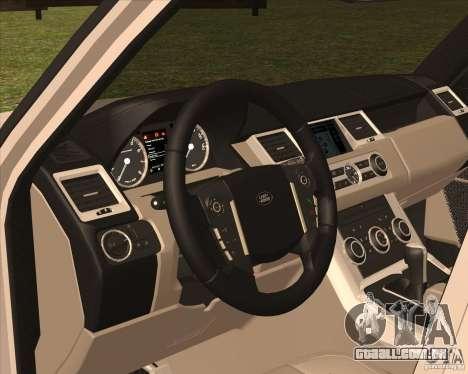 Range Rover Sport 2012 para GTA San Andreas vista traseira