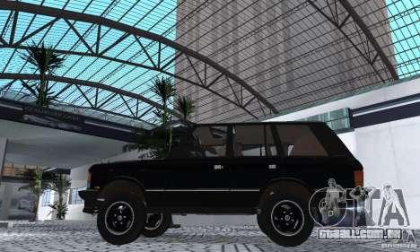 Range Rover County Classic 1990 para GTA San Andreas vista direita