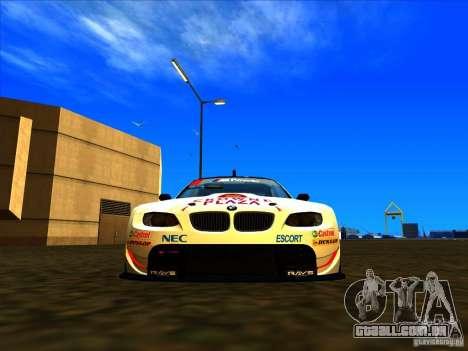 BMW M3 GT ALMS GT2 Series para GTA San Andreas traseira esquerda vista