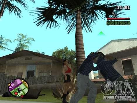 G: para GTA San Andreas por diante tela