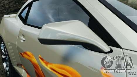 Chevrolet Camaro ZL1 2012 v1.0 Flames para GTA 4 vista superior