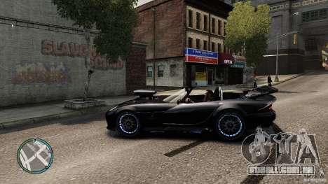 Blue Neon Banshee para GTA 4 esquerda vista