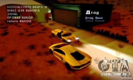 Drag Track Final para GTA San Andreas quinto tela
