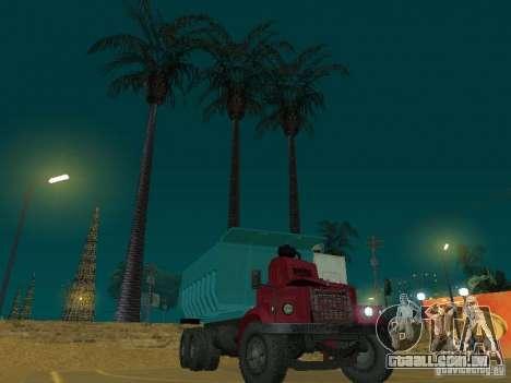KrAZ-256b1-030 para GTA San Andreas vista traseira