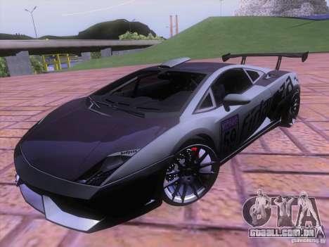 Lamborghini Gallardo Racing Street para GTA San Andreas vista inferior