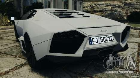 Lamborghini Reventon 2008 v1.0 [EPM] para GTA 4 traseira esquerda vista
