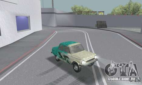ZAZ 968M esfarrapado para GTA San Andreas vista interior