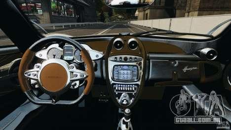 Pagani Huayra 2011 v1.0 [RIV] para GTA 4 vista de volta