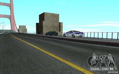 Polícia sobre a ponte de San Fiero_v. 2 para GTA San Andreas terceira tela
