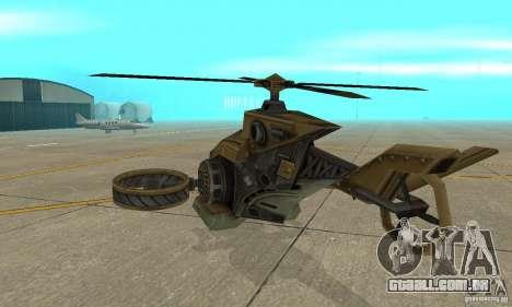 Um helicóptero do jogo TimeShift Brown para GTA San Andreas vista direita
