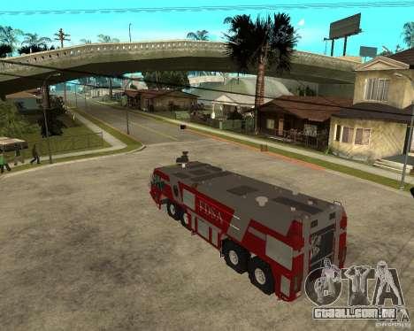 Rosenbauer Simba 8x8 GFLF FDSA para GTA San Andreas esquerda vista