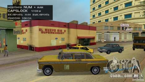 Cabbie HD para GTA Vice City deixou vista