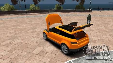 Range Rover LRX 2010 para GTA 4 vista interior