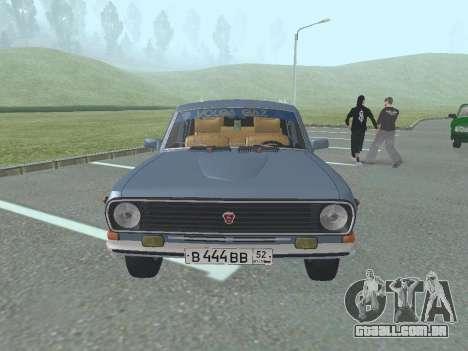 GAZ-24 Volga 12 para GTA San Andreas esquerda vista