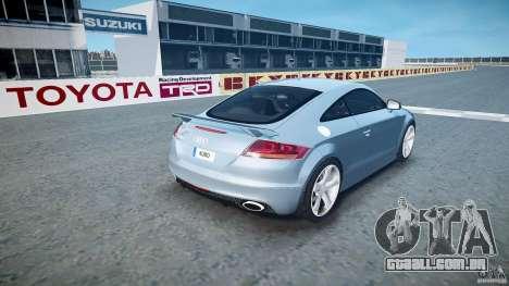 Audi TT RS 2010 para GTA 4 vista superior