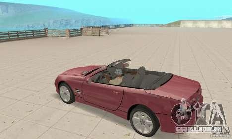 Mercedes-Benz SL500 (R230) para GTA San Andreas vista traseira
