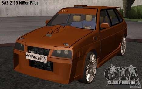 Piloto de Miller 2109 VAZ para GTA San Andreas