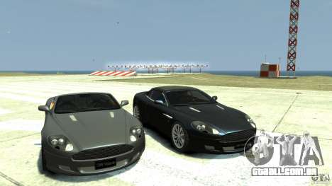 Aston Martin Volante DB9 para GTA 4 vista de volta
