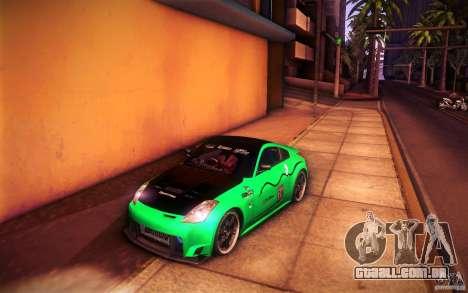 Nissan 350Z Fairlady para GTA San Andreas interior
