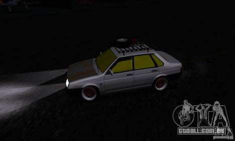 Olhar de rato 21099 VAZ para GTA San Andreas vista traseira