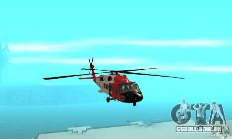 HH-60 Jayhawk USCG para GTA San Andreas vista interior