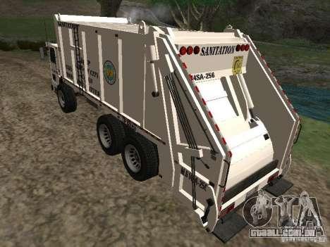 Caminhão de lixo do GTA 4 para GTA San Andreas esquerda vista
