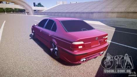 BMW M5 E39 Hamann [Beta] para GTA 4 traseira esquerda vista