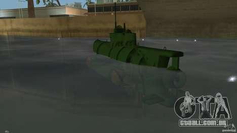 Seehund Midget Submarine skin 1 para GTA Vice City vista traseira esquerda