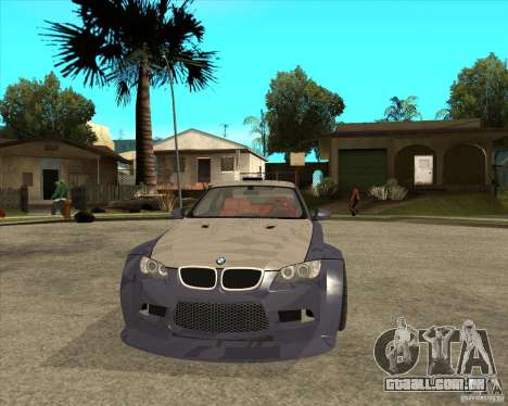 BMW M3 E92 TUNED para GTA San Andreas vista traseira