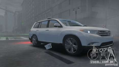 Toyota Highlander 2012 v2.0 para GTA 4 esquerda vista