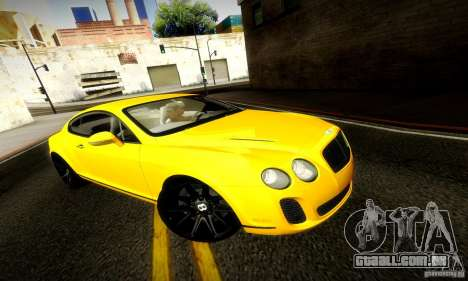 Bentley Continental Supersports para GTA San Andreas vista interior