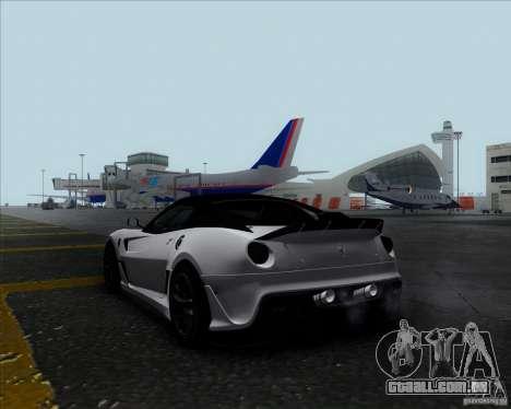 Ferrari Challenge-2009 599XX para GTA San Andreas esquerda vista