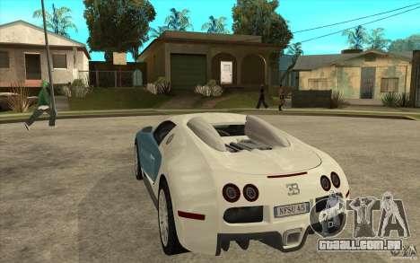 Spoiler para a Bugatti Veyron Final para GTA San Andreas segunda tela