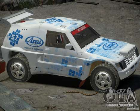 Mitsubishi Pajero Proto Dakar EK86 vinil 3 para GTA 4 traseira esquerda vista