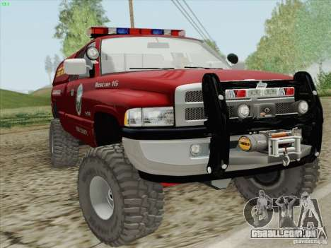 Dodge Ram 3500 Search & Rescue para GTA San Andreas vista interior
