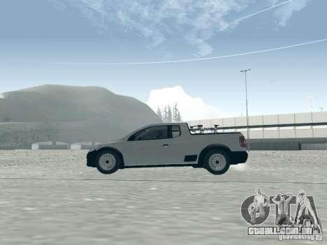 Volkswagen Saveiro 1.6 2009 para GTA San Andreas traseira esquerda vista