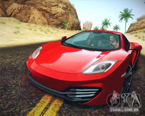 Realistic Graphics HD para GTA San Andreas por diante tela
