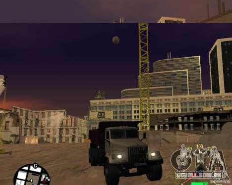 Caminhão de descarga KrAZ-256 para GTA San Andreas