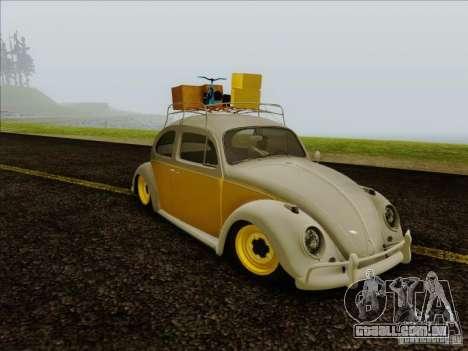 Volkswagen Beetle Edit para GTA San Andreas traseira esquerda vista