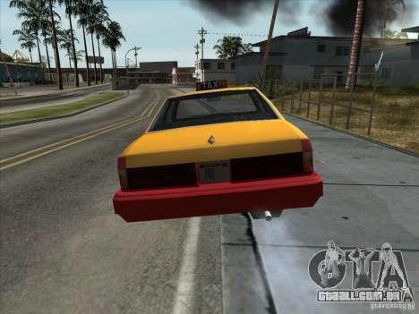 Sentinel Taxi para GTA San Andreas vista direita