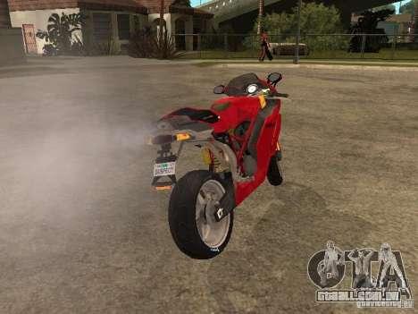 Ducati 999s para GTA San Andreas traseira esquerda vista
