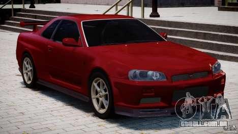 Nissan Skyline GT-R 34 V-Spec para GTA 4 vista superior